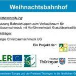Weihnachtsbahnhof Sitzendorf - EU und Thüringen investieren in die ländlichen Gebiete