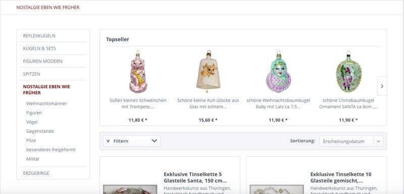 Christbaumschmuck Online Shop